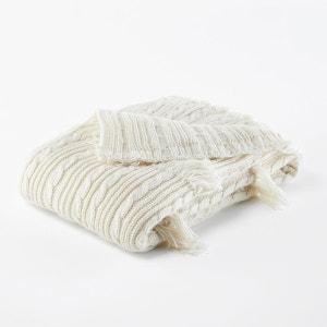 Plaid en tricot à franges, LOPIK La Redoute Interieurs