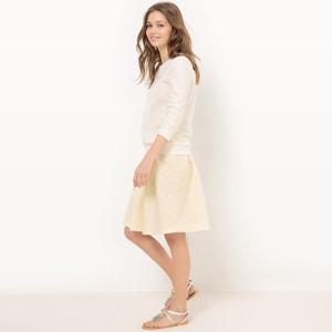 Floral, Knee-Length Flared Skirt MADEMOISELLE R