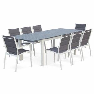 Salon de jardin aluminium extensible   La Redoute