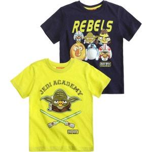 Lot De 2 T-shirts Garçon ANGRY BIRDS