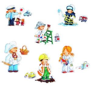 Puzzles 2 à 4 pièces : 6 puzzles Mes premiers puzzles : Les métiers HABA