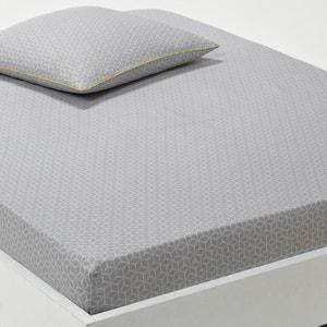 Sábana bajera ajustable estampada de satén de algodón, Kaiteki La Redoute Interieurs