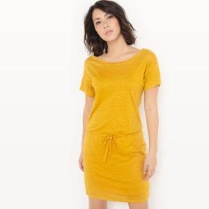 Robe jaune moutarde manche longue