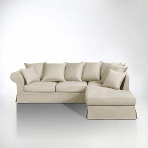 Canapé d'angle coton demi-natté, fixe, Adelia La Redoute Interieurs