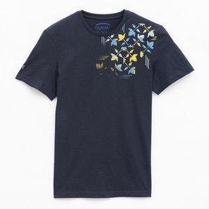 T-shirt met logo op de schouder