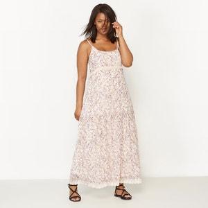 Langes Kleid mit Trägern, bedruckt CASTALUNA