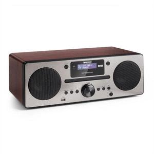 auna Harvard Micro chaîne DAB+ tuner radio FM lecteur CD Bluetooth USB -marron AUNA