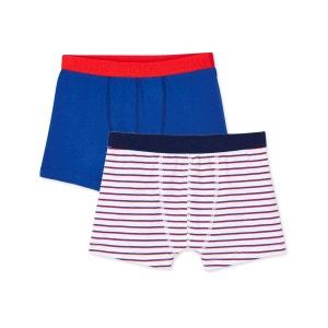 Lot de 2 boxers ado garçon en jersey stretch PETIT BATEAU