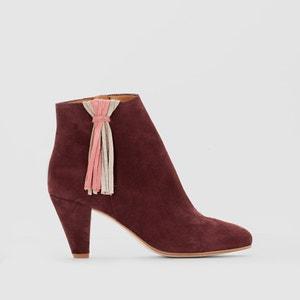 Boots cuir détail pompon MADEMOISELLE R