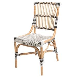 Chaise bistrot blanche - Vigo - Polyrotin ROTIN DESIGN