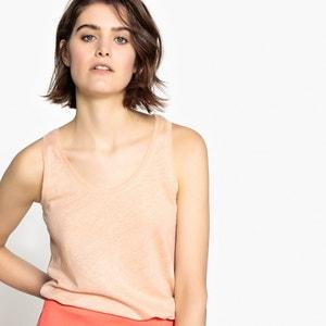 Linen Vest Top La Redoute Collections