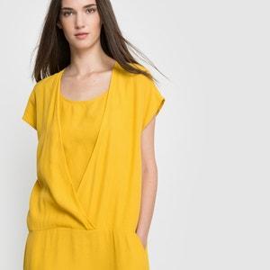 Kleid, fliessendes Material, kurze Ärmel VILA