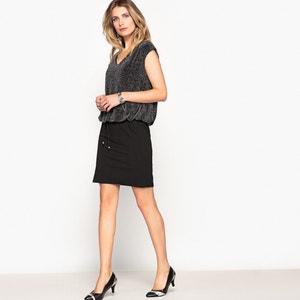 Rechte halflange jurk zonder mouwen ANNE WEYBURN