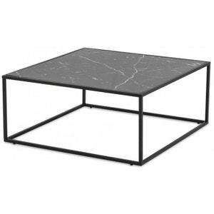 Table Basse Plateau Effet Marbre Noir FORTUNE DECLIKDECO