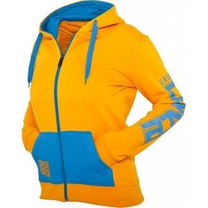 Veste zippée URBAN DANCE Orange / Bleu à capuche  en molleton URBAN DANCE