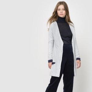 Casaco comprido com dobras, bicolor, mistura de lã La Redoute Collections