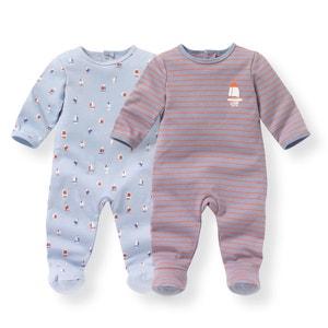 Pijama em algodão, 0-3 anos (lote de 2) R mini