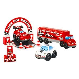 Ensemble de 3 véhicules Fast Car F1 Abrick ECOIFFIER