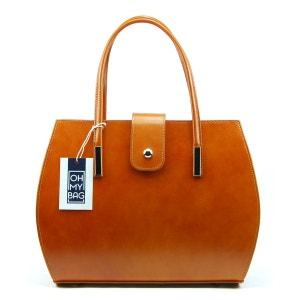 Sac à main cuir femme - Modèle Croisette bleu foncé OH MY BAG