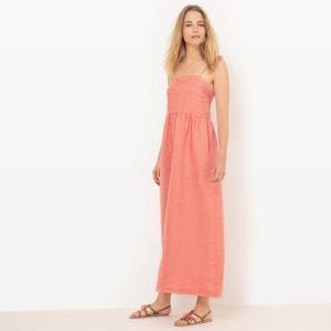 Linen Maxi Dress with Tie Shoestring Straps R essentiel