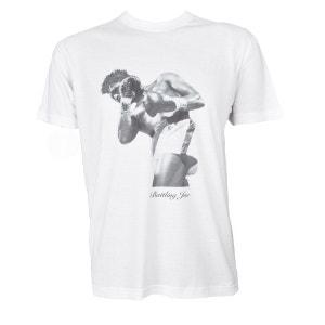 Tee-Shirt Manches Courtes en coton blanc Uppercut BATTLING JOE