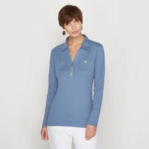 T-shirt forme polo pur coton peigné ANNE WEYBURN
