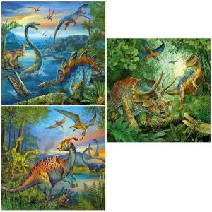 Puzzle 3 x 49 pièces : La fascination des dinosaures RAVENSBURGER