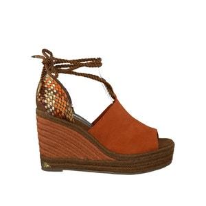Sandálias de cunha em pele 28312-28 TAMARIS