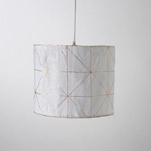 Pantalla de lámpara de techo de lino estampado piel, Ija La Redoute Interieurs