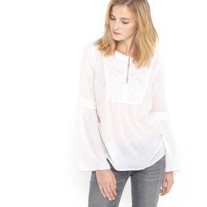 Blusa estilo romântico com plastrão SOFT GREY