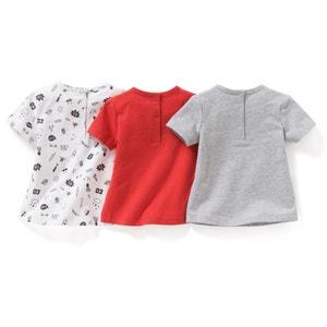 T-shirt manches courtes 1 mois-3 ans (lot de 3) La Redoute Collections
