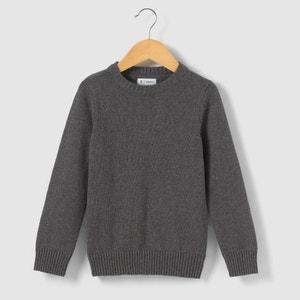 Jednokolorowy ciepły sweter z zaaokrąglonym kołnierzem 3-12 lat R essentiel