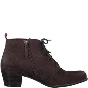 Ocimum Leather Lace Up Boots TAMARIS