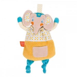 Doudou d'éveil : Eléphant Celadon L OISEAU BATEAU