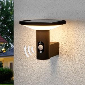 Applique d?extérieur LED ronde Jersy, pan. solaire LAMPENWELT