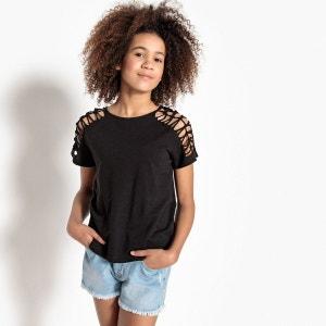 T-shirt large frangé noué 10-16 ans La Redoute Collections