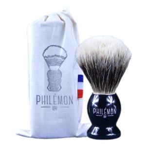brosse de rasage blaireau blanc européen PHILEMON