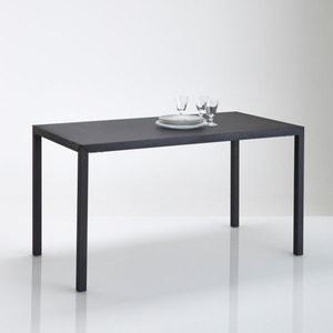 Mesa de comedor metal negro mate 4 comensales, Hiba