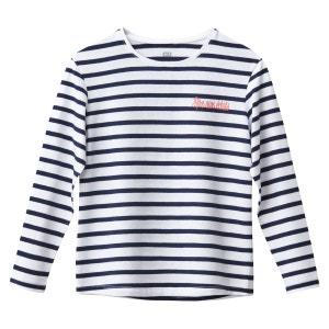 """T-shirt marinière """"rire aux éclats"""" 3-12 ans La Redoute Collections"""
