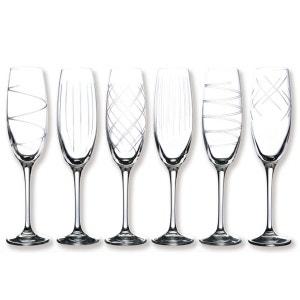 Flûtes à champagne taillées 18cl - Coffret de 6 - SAGA BRUNO EVRARD