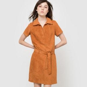 Robe suédine, manches courtes avec ceinture La Redoute Collections