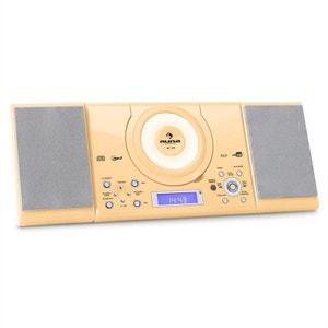 MC-120 Chaine Hifi Stéréo Lecteur MP3 CD USB -crème AUNA