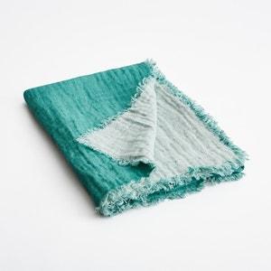 Plaid in lino effetto goffrato bicolore Orosco AM.PM.