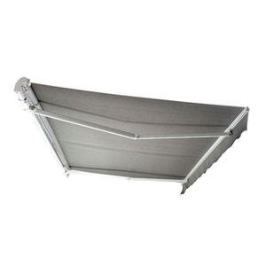 Auvent de jardin aluminium rétractable 4x3m gris - HOMCOM HOMCOM