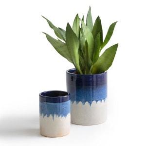 Cache-pots céramique tie & dye Tapiwa (lot de 2) La Redoute Interieurs