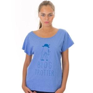 T-shirt à manches courtes Diane Blog Trotter Bleu KULTE