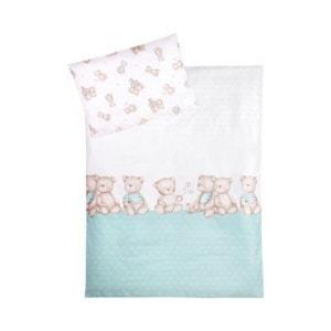 ZÖLLNER La parure de lit «oursons» 40x60 / 100x135 cm linge de lit enfant ZOLLNER