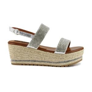 Sandalias con tacón en cuña HM918 CAFENOIR