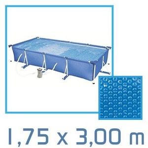 Bâche à bulle rectangle 1,75 x 3,00m 180 microns pour piscine Intex ou autre LINXOR