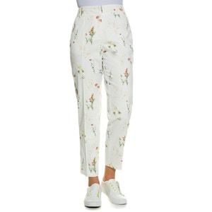 "Floral Print Trousers, Length 30.5"" ULLA POPKEN"